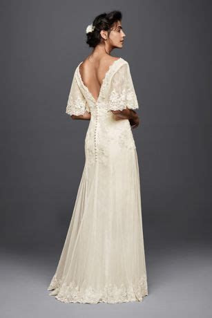 Melissa Sweet Wedding Dress with Flutter Sleeves Style