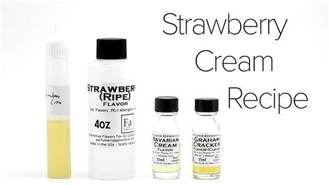 diy  liquid recipe strawberry cream youtube