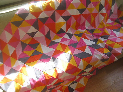 party napkin quilt top