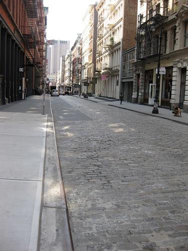 Brick street in SoHo