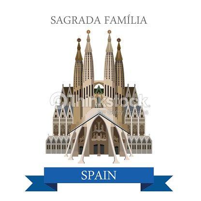スペイン バルセロナのサグラダ ファミリア ガウディ大聖堂寺聖家族