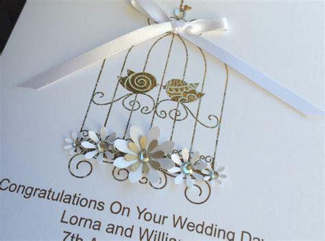 Handmade Wedding Card Lace Bird Cage   Handmade Cards