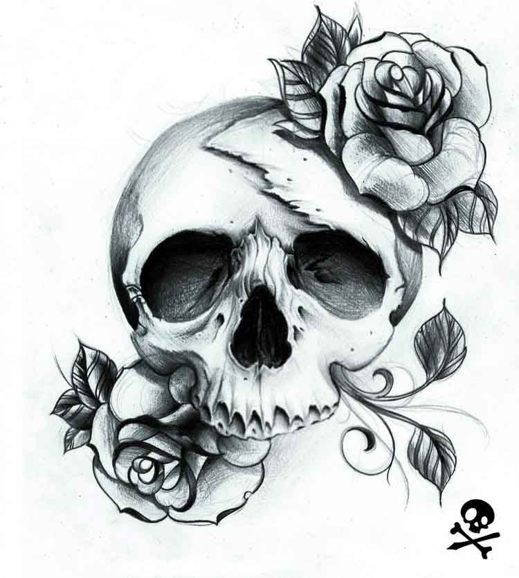 Dead Rose Skull Best Tattoo Ideas Gallery