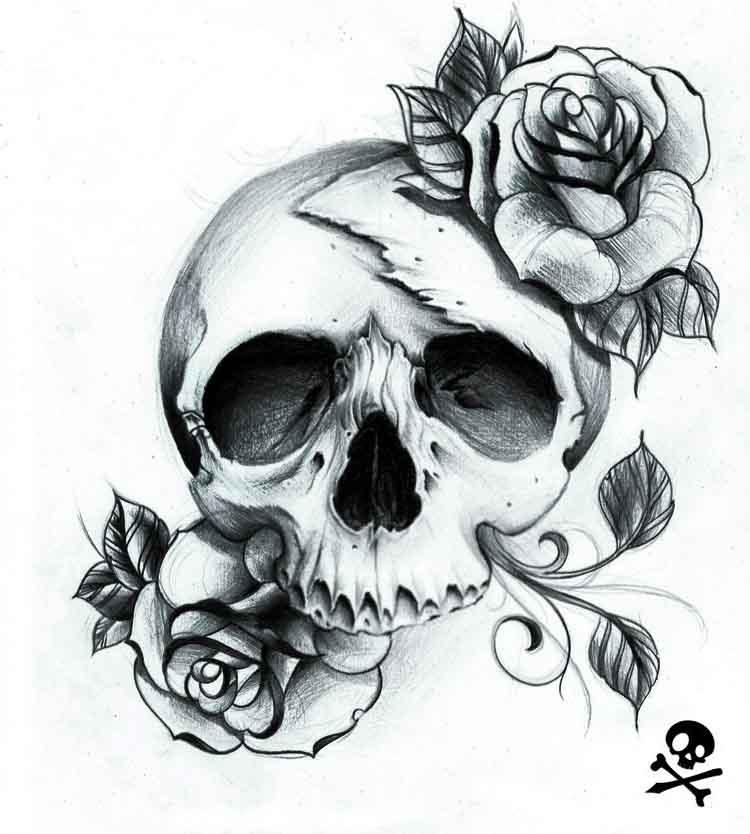 Skull And Rose Tattoos Perfect Tattoo Artists
