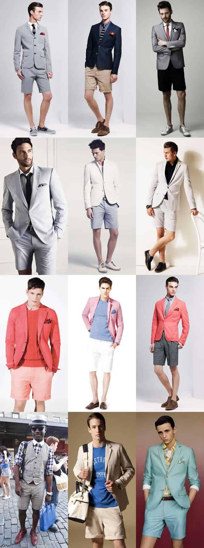 Men's Short Suit Lookbook