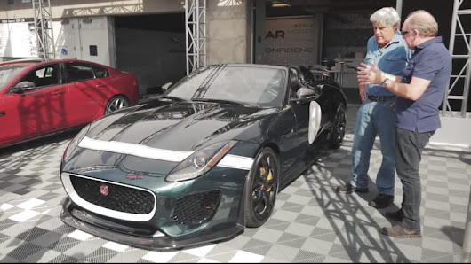 Jay Leno drives the Jaguar F-Type Project 7