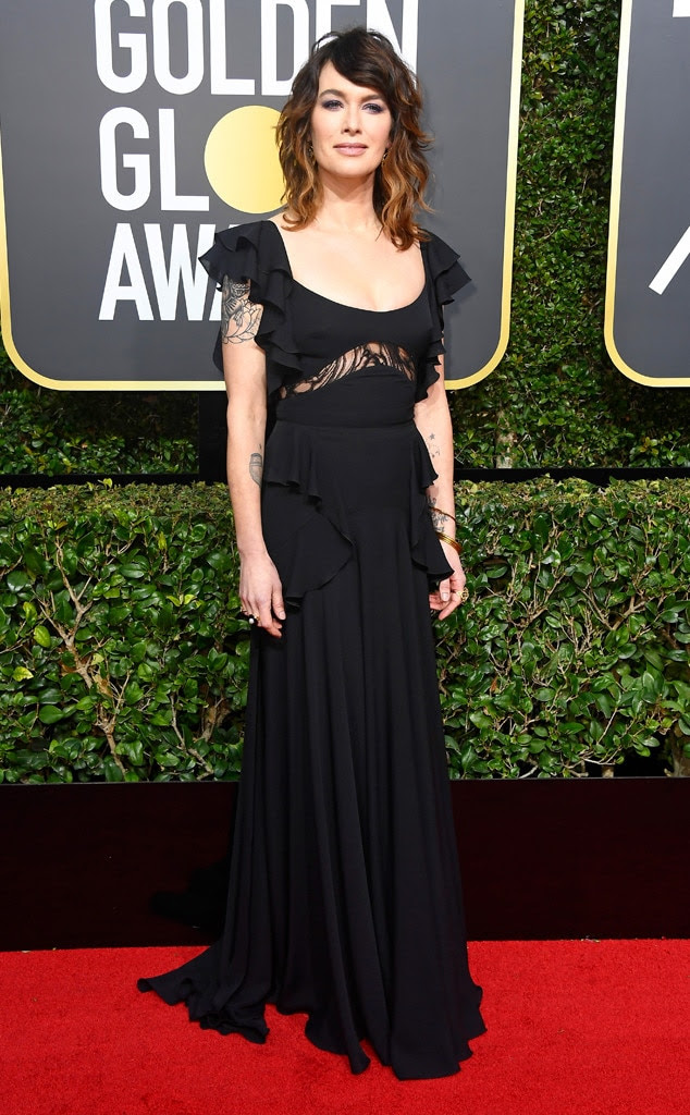 Lena Headey, 2018 Golden Globes, Red Carpet Fashions