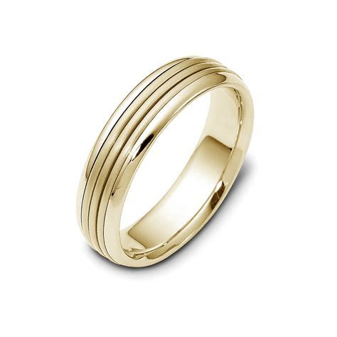 Men's two tone Stack Wedding band in 14K and 18K white and