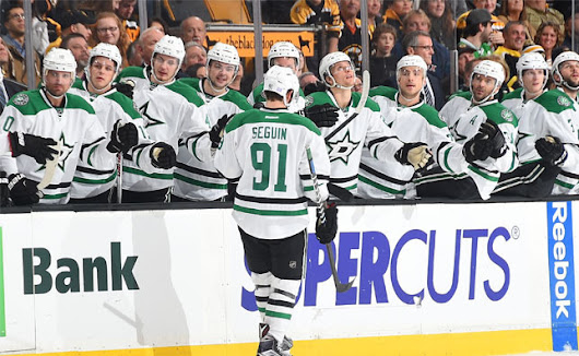 Seguin notches hat trick as Stars top Bruins, 5-3