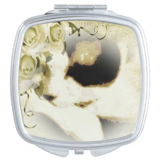 Snowshoe golden roses kitty makeup mirror