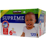 Kirkland Signature Diapers, Size 6 - 120 diapers