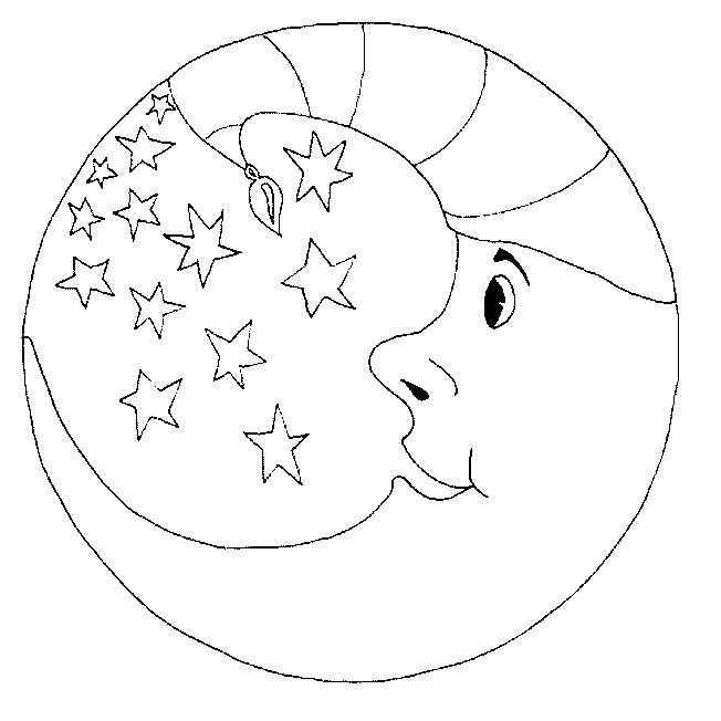 Ay Boyama Sayfasi 1 Okul öncesi Etkinlik Faliyetleri