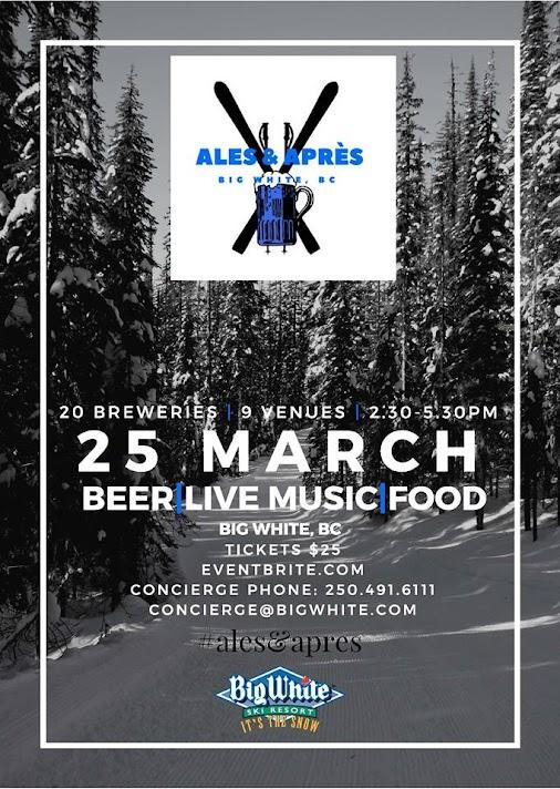 THIS WILL BE GOOD! Ales & Aprés Beer Fest at Big White Mountain! @Bigwhite, #AlesAprés, Ales & Apres...