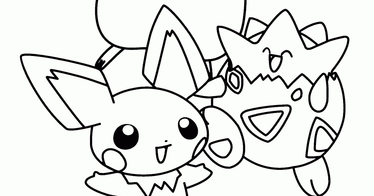 Pokemon Coloring Pages Valentine - Tripafethna