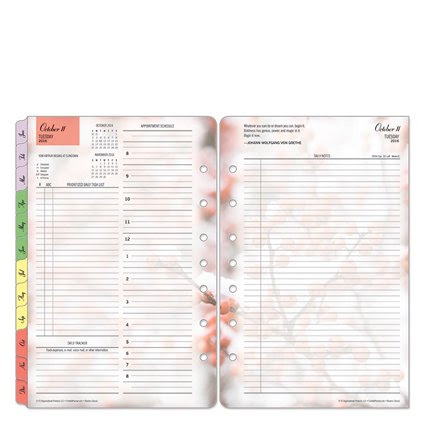 Classic Blooms Ring-bound Daily Planner - Oct 2016 - Sep 2017 ...