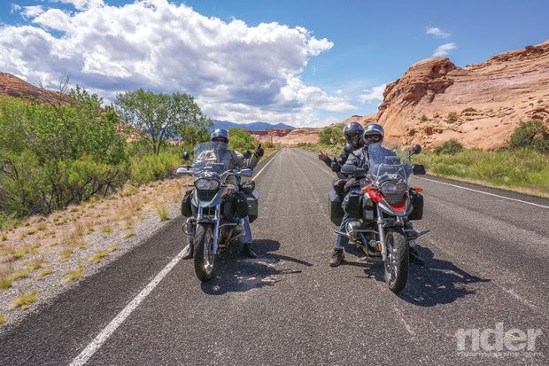 The three musketeers passing through Glen Canyon.