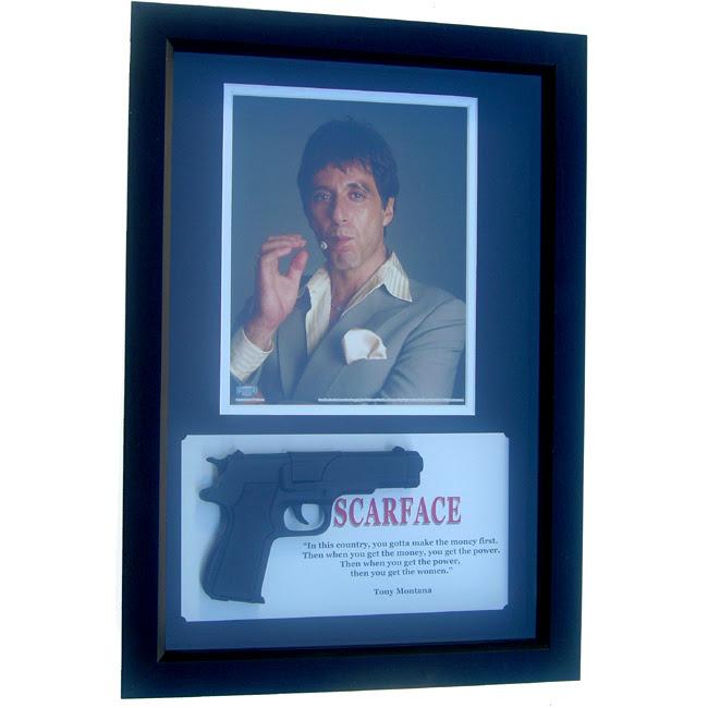 12x18 Shadow Box Scarface Gun