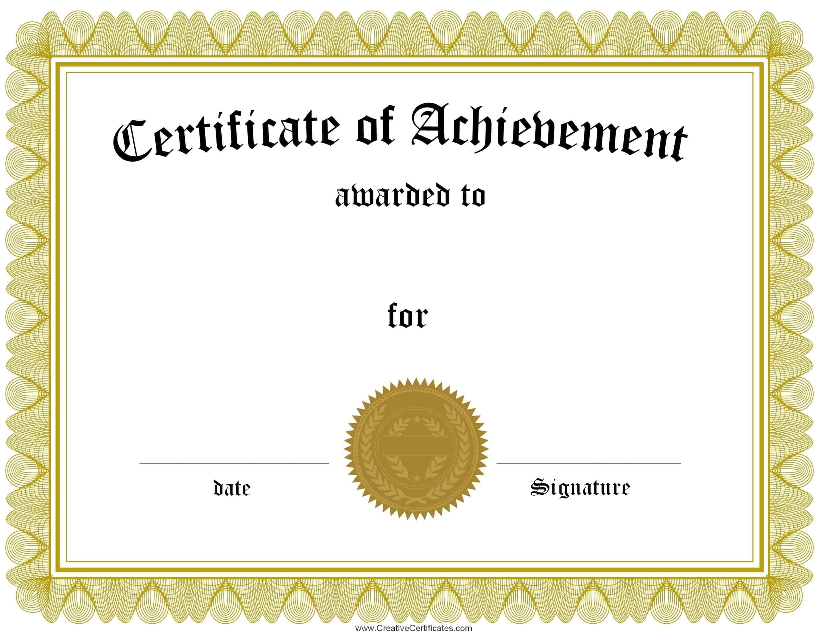 free award template