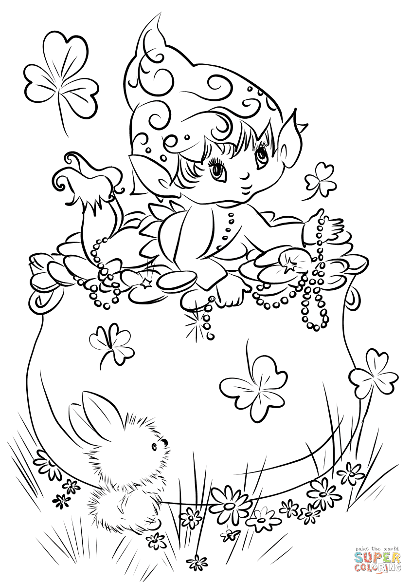 98 Cute Leprechaun Coloring Pages For Free