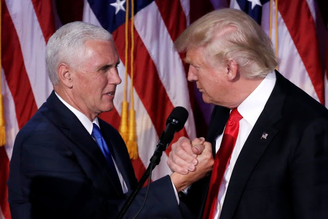 Mike Pence et Donald Trump... (PHOTO MIKE SEGAR, ARCHIVES REUTERS)