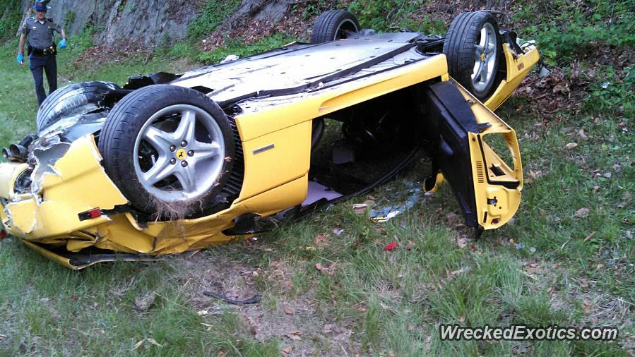 Ferrari 355 bites the dust, literally