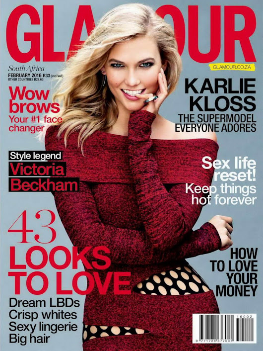 USA Fashion | Music News: KARLIE KLOSS in Glamour Magazine, South Africa February 2016 Issue