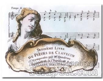 Акриловый штамп La Blanche - Troisime Livre - ScrapUA.com