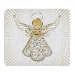 Gold Christmas Angel of Grace Sunbeams Cutting Boards