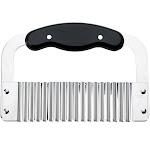 HIC Wavy Crinkle Cutter Tool & Chopping Knife, Vegetable Slicer, Steel Blade