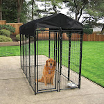 Lucky Dog Uptown Welded Wire Kennel Heavy Duty Dog Cage, Black
