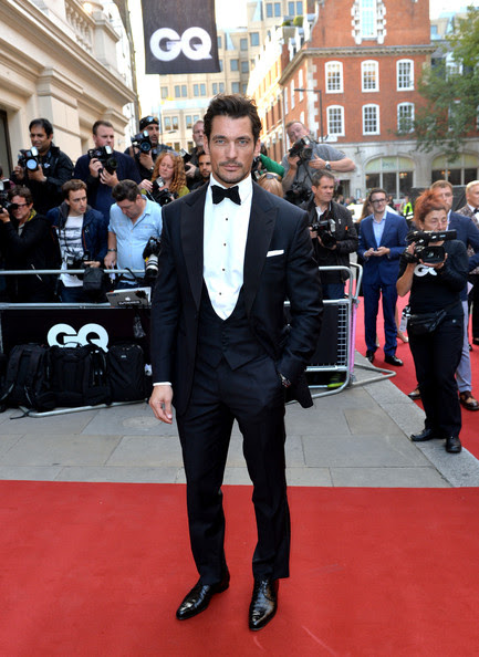 David Gandy attends the GQ Men of the Year awards at The Royal Opera House on September 2, 2014 in London, England.