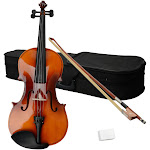 "AUPERTO 15"" Natural Wood Viola with Case, Bow and Rosin Suitable for The Adults Brown"