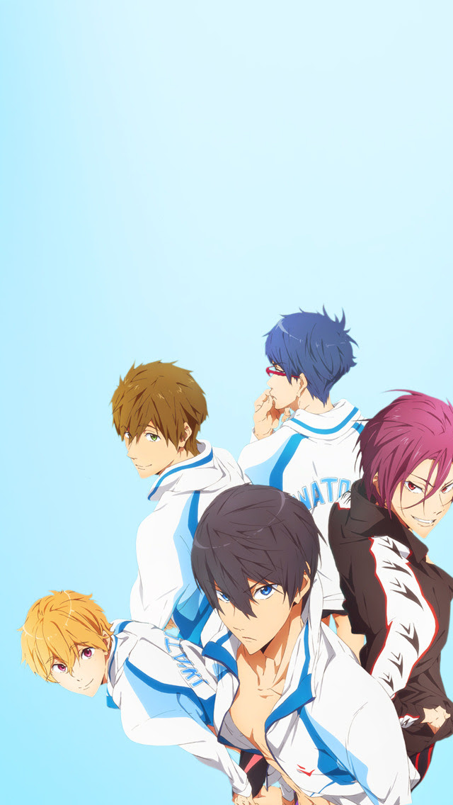 Cute Animated Boys, Free! iPhone 5 Backgrounds ( more anime...