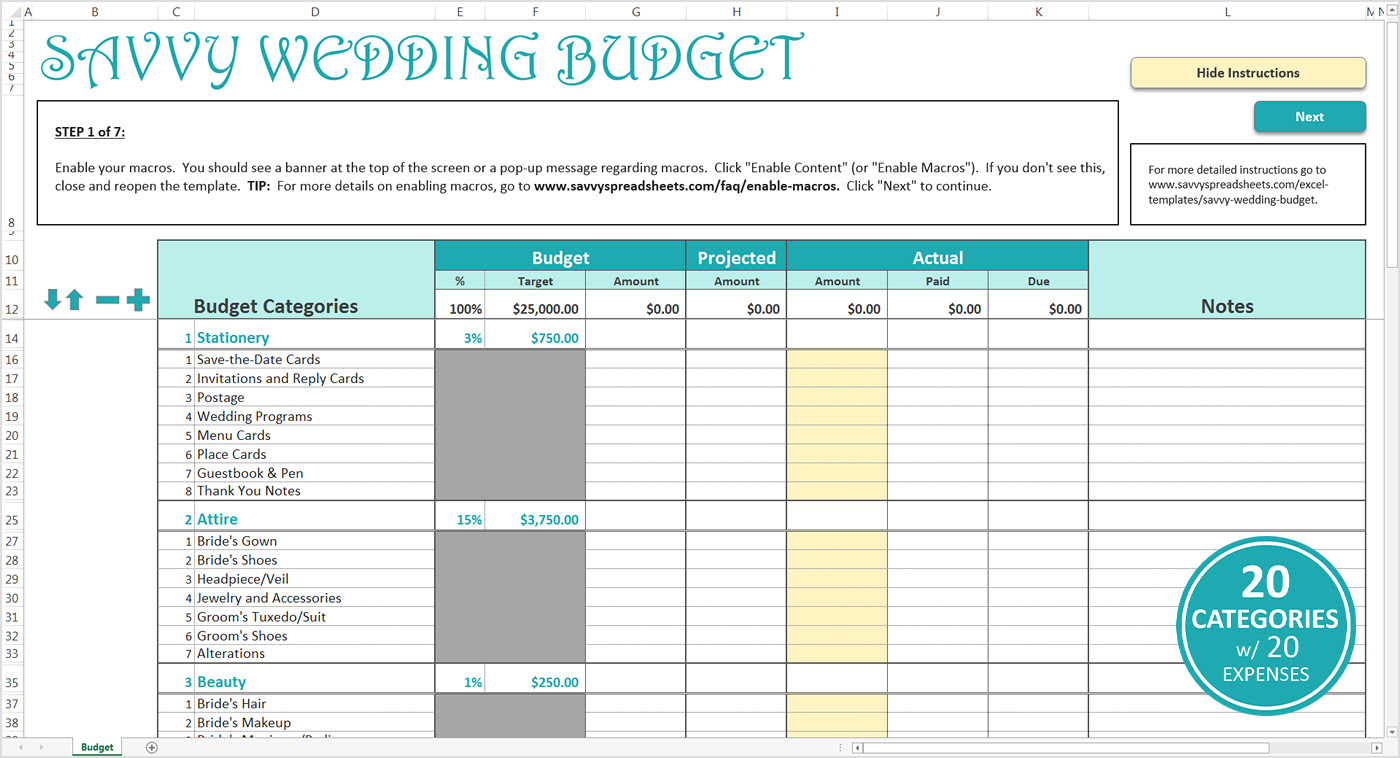 Free Wedding Planning Spreadsheet Google Spreadshee free wedding budget planner spreadsheet ...