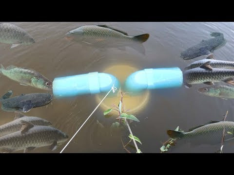 Click1forSee: Smart Girl Make Fish Trap Using PVC And Plastic Bottle To Catch A Lot of Fish