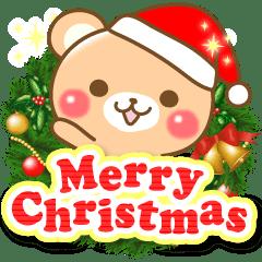 Lineスタンプ敬語くまさんのクリスマスお正月 40種類 120円