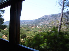 Mountain View from Train