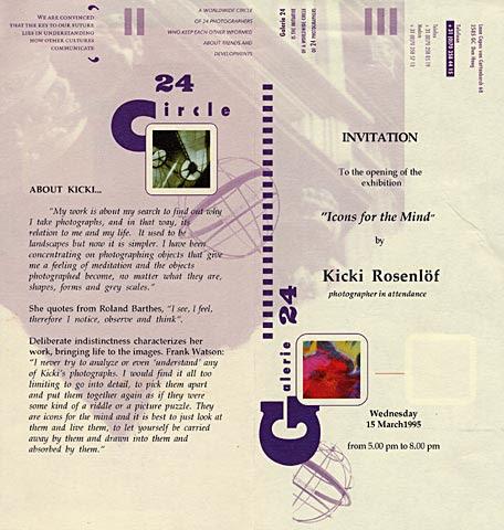 Kicki Rosenlof, invitation english