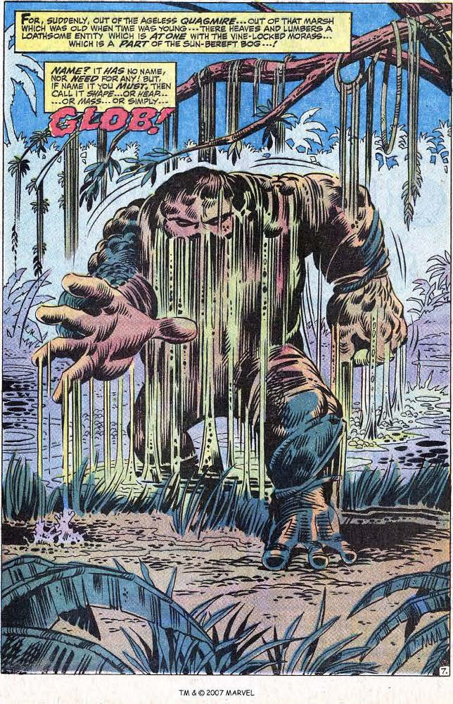 The Glob! Created by Roy Thomas and Herb Trimpe