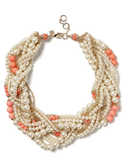 Banana Republic Pearl Twist Necklace
