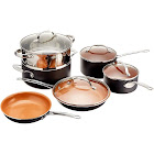Gotham Steel 10-Piece Kitchen Nonstick Frying Pan and Cookware Set - Copper