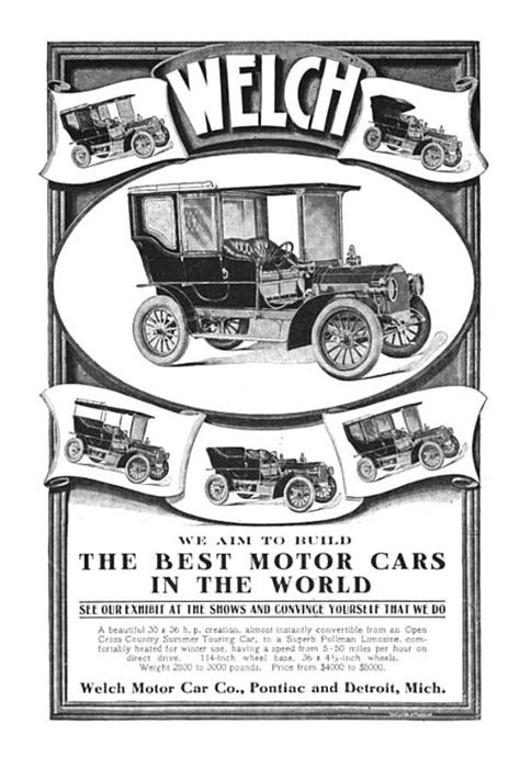 The Welch Automobile & The Welch Motor Car Co.