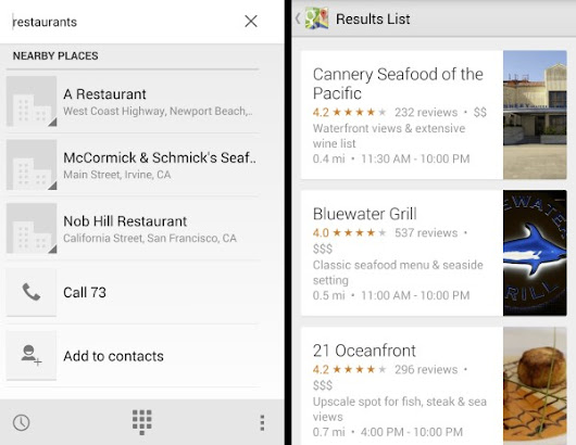 Google Places Listings Get Integrated Into Android's Phone App — And They're Terrible