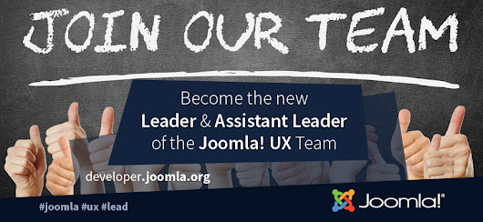 Call for a Team Leader & Assistant Team Leader - Joomla! User Experience Team