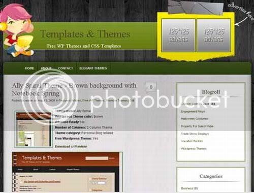 Wordpress Kids Design Blogging Web2.0 Theme Template