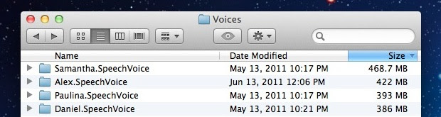 Remove Voices from OS X Lion