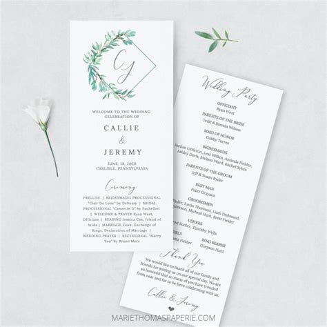 How to Make Your Own Wedding Programs: Easy   Affordable!