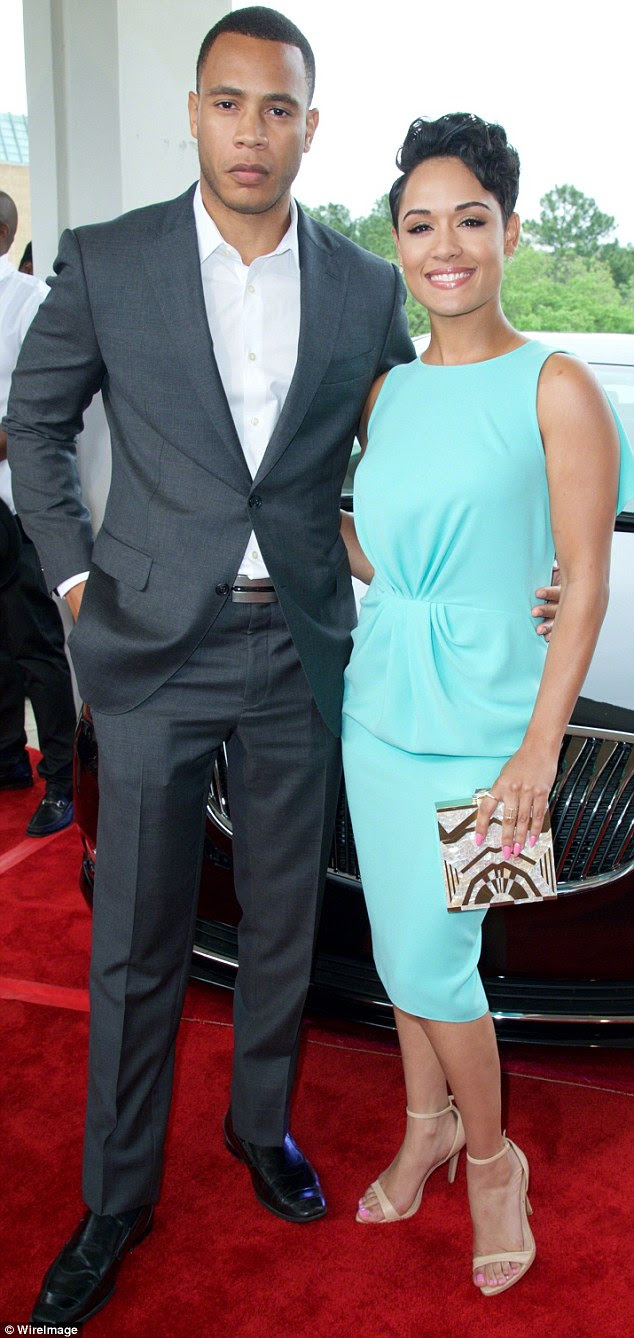 It beats a birthday card: Empire favourite Grace Gealey ended up with a new fiance  afterTrai Byers proposed on her big day on Sunday