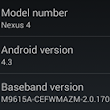 Breaking: Android 4.3 For Google Nexus 4 Leaks (JWR66N) - Here's The System Dump [Download]