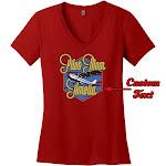 PilotMall.com Pilot Mom Custom V-Neck T-Shirt, Red